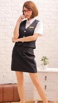 OL9/ミストレスオフィス グレー(シャツ、スカート、ベストの3点SET)