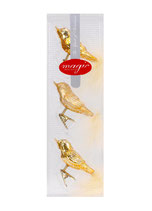 Dekoschmuck Glas Vogelmit Clip 8cm inkagold