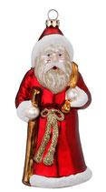 Weihnachtsmann, Glas, 14,5 cm, figürlicher Glasschmuck