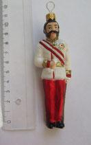 Franz Christbaumanhänger, 11 cm, handbemalt und mundgeblasen