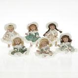 Porz. Minipüppchen, 13 cm, 6-fach sortiert, Einzelverpackung inkl. Puppenständer