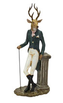 Hirsch mit Gehstock, Poly, 47 cm hoch