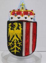 Wappen von OÖ, in roter Box verpackt, Höhe 13 cm