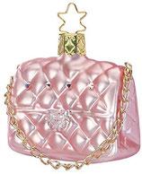 Inge-glas - Christbaumschmuck, Baumschmuck - Handtasche - Clutch - Glas - Größe: 6 cm - mundgeblasen, handbemalt