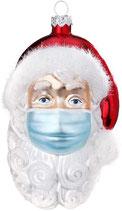 Magic Christbaumhänger, Santa mit Maske, 10,5 cm