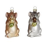 Maus grau oder braun 8 cm