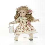 Porzellan-Puppe, Gießkanne, 36 cm, Sitzpuppe