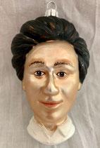 Rosa Luxemburg, Christbaumschmuckanhänger, 9 cm hoch