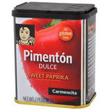 Pimentón Ahumado Dulce. 75 gram. Sin gluten.