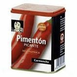 Pimentón Picante. 75 gram. Sin gluten.