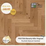 Sample PEX7504 Beverly Hills Visgraat Rustiek Naturel Geolied