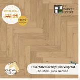 Sample PEX7502 Beverly Hills Visgraat Rustiek Blank Geolied