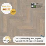 Sample PEX7505 Beverly Hills Visgraat Rustiek Gerookt Wit Geolied