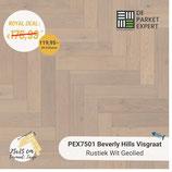 Sample PEX7501 Beverly Hills Visgraat Rustiek Wit Geolied