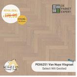 Sample PEX6251 Van Nuys Visgraat Select Wit Geolied