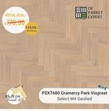 Sample PEX7680 Gramercy Park Visgraat Select Wit Geolied