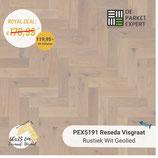 Sample PEX5191 Reseda Rustiek Wit Geolied Visgraat