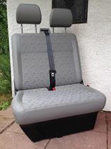 VW T6 / T5 Beifahrerdoppelsitzbank Stoff PLACE