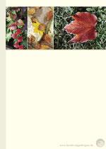 Notizblock Herbstfarben