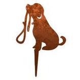 Rost-Deko Hund, 25x22 cm