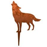 Rost-Deko Wolf, 25x23 cm