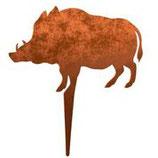 Rost-Deko Schwein, 25x15 cm