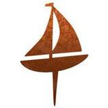 Rost-Deko Segelboot, 23x23 cm