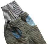 piratenhose 134-152, mit piratentaschen, leinen grau streif