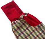 piratenhose 110-134, mit piratentaschen, karo rot/weiß/grün/gelb