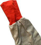 piratenhose 110-134, streif grau mit dunkelorange