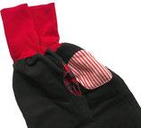 piratenhose 134-152, mit piratentaschen, schwarz denim