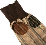 piratenhose 80-116, mit piratentaschen, streif beige