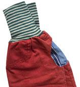 piratenhose 134-152, mit piratentaschen, rost denim