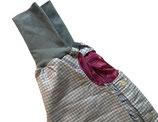 piratenhose 110-134, mit piratentaschen, vichy karo hellblau