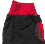 piratenhose bio, small, schwarz mit chilli