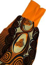 piratenhose 056-80, afrikaprint mit orange