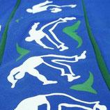 Pantalón Capoeira Azul Estampado 1