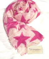 Pur Schoen Kaschmirschal gefilzt, Star 21 pink - puder rose
