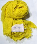 Pur Schoen Kaschmirschal gefilzt, Gelb