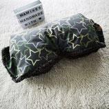 Kinderwagenmuff aus Softshell Grau-Grün mit Sterne