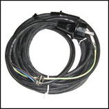 ♦ Kabel 3 X 1,5 mit Stecker und Knickschutz