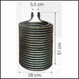 ♦ Heizschlange 510 / 280 mm passend Kärcher HDS