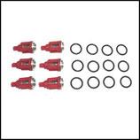 ♦ Kränzle Ventilset rot, Durchmesser 16 mm.