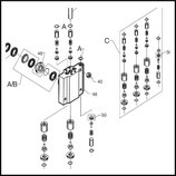 ♦ Dichtungsset Pumpe A2V/VA komplett (Teile mit der Bezeichnung A & B)