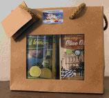 Geschenkset Olivenöl Bio und Zitrone (2 x 0,25 Liter)
