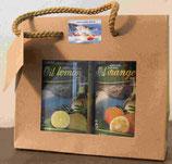 Geschenkset Olivenöl Zitrone / Orange (2 x 0,25 Liter)