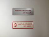 Targhetta anti-affissione