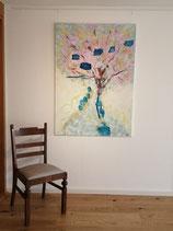 Tanzender Baum, Acryl auf Leinwand