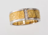 Bicolor Ring im Finegoldlook 585