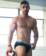 Andrew Christian Almost Naked Sports Brief schwarz